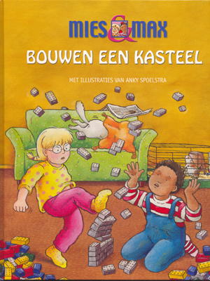 ref.nr. K2761 -    Boek 'Mies en Max bouwen een kasteel'    (32 pagina's in kleur)