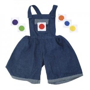 Kledingsets voor handpoppen Jeans tuinbroekje met 6 verschillende kleuren