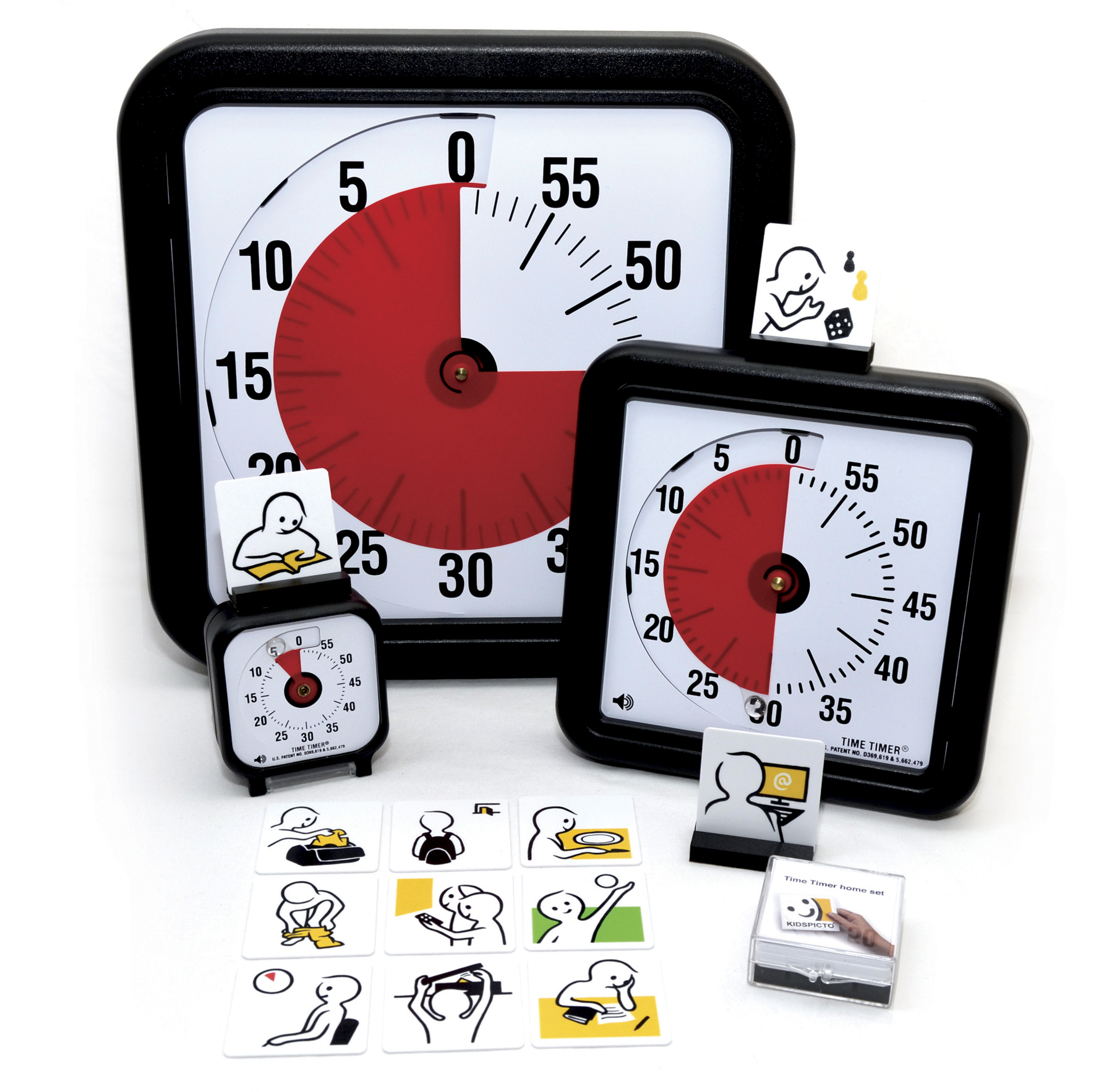 JAC5051 Time Timers with pictograms homeset