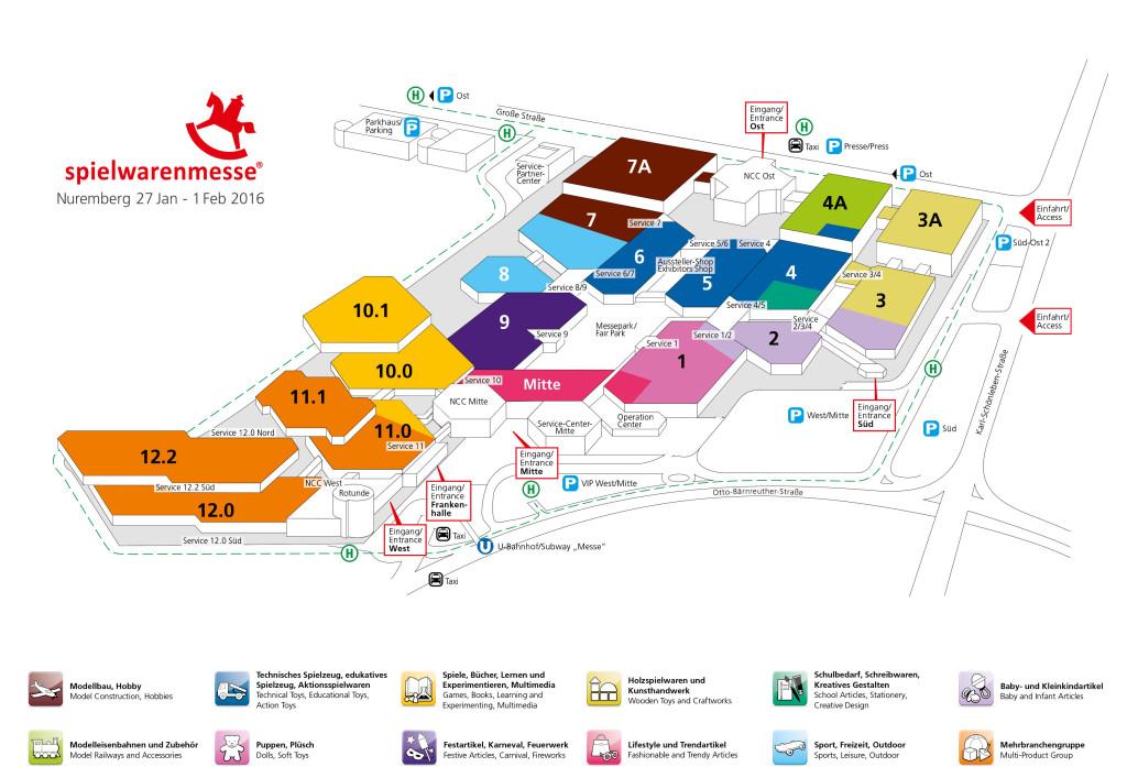 Spielwarenmesse-plattegrond