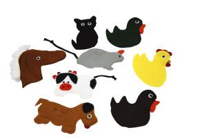 Set vingerpop boerderijdieren