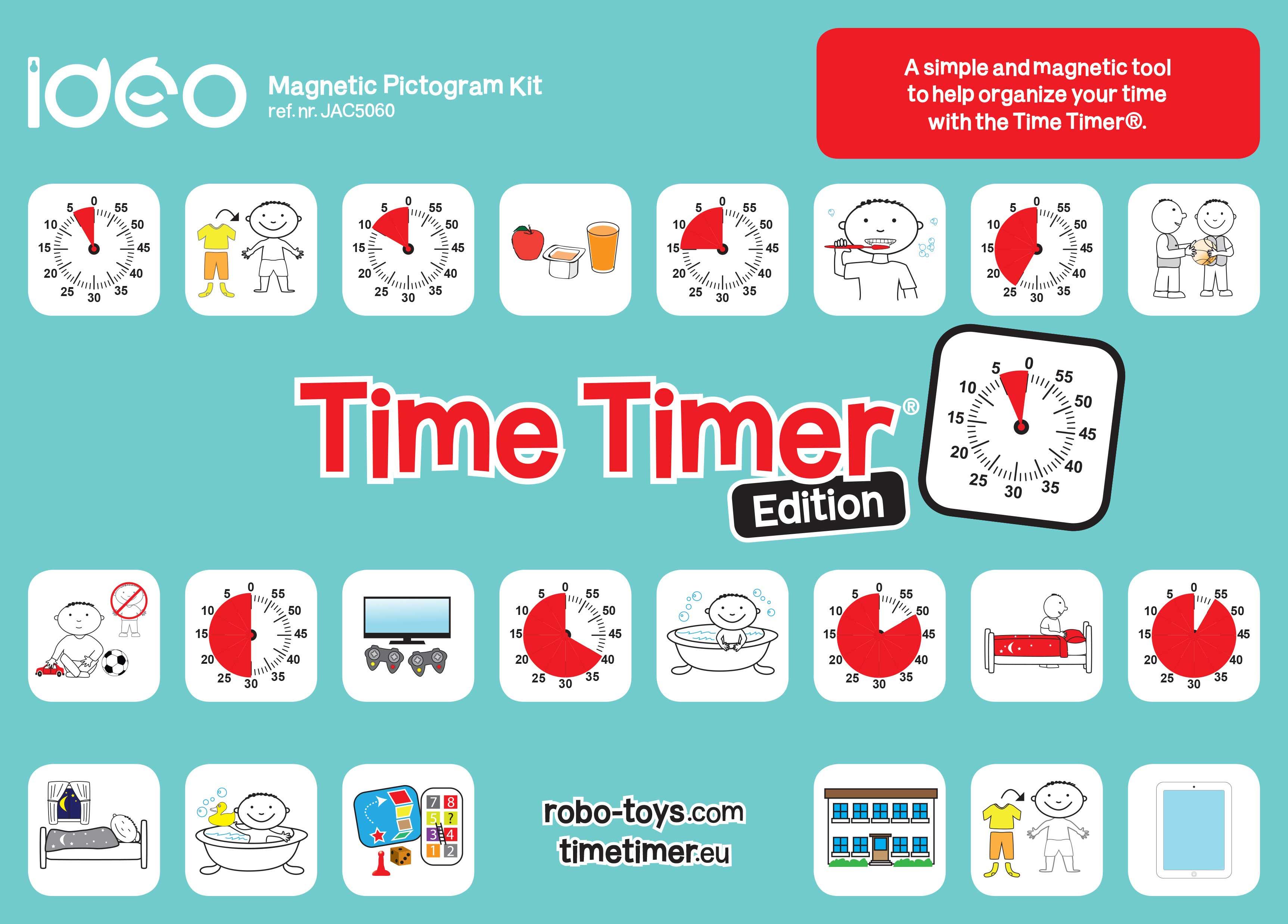 Nieuw Time Timer® Magnetic Pictogram Kit – Robo Educational Toys JC-32