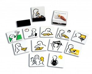 Pictogrammen 'School set' en 'Home set'